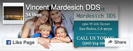 Facebook Like - Vincent Mardesich DDS